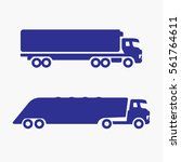 truck icon lorry. flat isolated ...   Shutterstock .eps vector #561764611