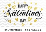 gold valentine day calligraphy...   Shutterstock .eps vector #561766111