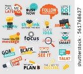set of flat design business...   Shutterstock .eps vector #561768637