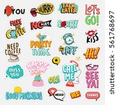 set of flat design social...   Shutterstock .eps vector #561768697