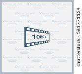 1080p full hd sign | Shutterstock .eps vector #561771124
