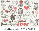 valentine's day elements for... | Shutterstock .eps vector #561772051