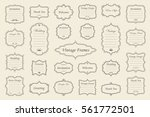 big vector set of vintage... | Shutterstock .eps vector #561772501