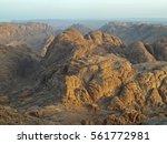 sinai mountain morning view | Shutterstock . vector #561772981