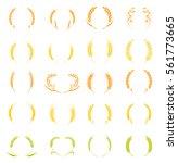 gold laurel wreath   a symbol... | Shutterstock .eps vector #561773665