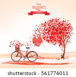 valentine's day background with ... | Shutterstock .eps vector #561776011