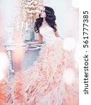 fashionable portrait of... | Shutterstock . vector #561777385