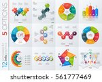 collection of 12 vector... | Shutterstock .eps vector #561777469