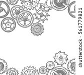 vector seamless pattern with... | Shutterstock .eps vector #561779821