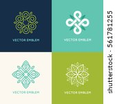 vector set of logo design... | Shutterstock .eps vector #561781255