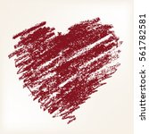 vector heart  drawn by hand for ... | Shutterstock .eps vector #561782581