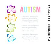 autism awareness poster with... | Shutterstock .eps vector #561784411