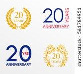 20 years anniversary set.... | Shutterstock .eps vector #561784951