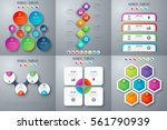 set with infographics. data and ... | Shutterstock .eps vector #561790939