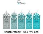 modern infographic design... | Shutterstock .eps vector #561791125