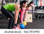 functional fitness workout in... | Shutterstock . vector #561791995