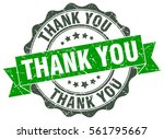 thank you. stamp. sticker. seal.... | Shutterstock .eps vector #561795667