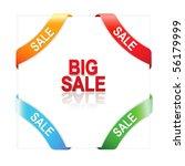 set advertising angular ribbons ... | Shutterstock . vector #56179999
