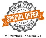 special offer. stamp. sticker.... | Shutterstock .eps vector #561800371