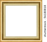 wooden gold classic frame on... | Shutterstock . vector #56180818