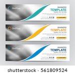 abstract banner design... | Shutterstock .eps vector #561809524
