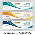 abstract banner design... | Shutterstock .eps vector #561809554