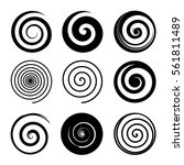 Set Of Spiral And Swirl Motion...