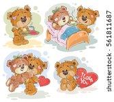 set vector clip art... | Shutterstock .eps vector #561811687