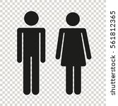 stick figure wc | Shutterstock .eps vector #561812365