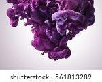 Purple Paint Splash. Abstract...
