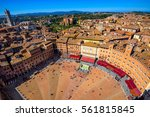 aerial view of siena  campo... | Shutterstock . vector #561815845