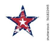 american flag star grunge... | Shutterstock . vector #561822445