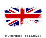 british flag. grunge old style. ... | Shutterstock . vector #561825289