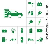electric car icon  alternative... | Shutterstock .eps vector #561830185