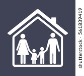 family and home icon | Shutterstock .eps vector #561839419