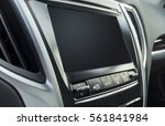 isolated  car dashboard  with a ... | Shutterstock . vector #561841984