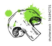 hand drawn mushroom. can be... | Shutterstock .eps vector #561842731