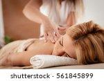 woman enjoying during a relax... | Shutterstock . vector #561845899