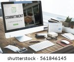commitment word on business... | Shutterstock . vector #561846145