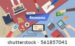 branding concept  creative idea ... | Shutterstock .eps vector #561857041