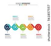 business data visualization.... | Shutterstock .eps vector #561857557