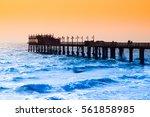 Coastal Pier At Evening Time....