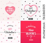 happy valentines day card  | Shutterstock .eps vector #561860305