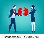 businessman and woman couple... | Shutterstock .eps vector #561863761