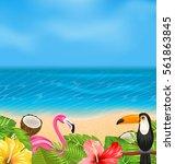 illustration exotic background... | Shutterstock .eps vector #561863845