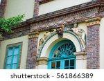 beautiful building facade    Shutterstock . vector #561866389