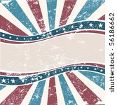 old colors american wave in... | Shutterstock .eps vector #56186662