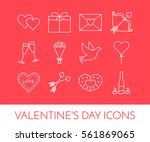 line thin icons for saint... | Shutterstock .eps vector #561869065
