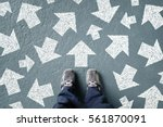 taking decisions for the future ... | Shutterstock . vector #561870091