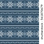 vector knitted geometrical... | Shutterstock .eps vector #561870679